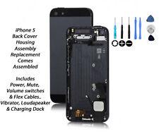 NUOVO iPhone 5 5g Cover Posteriore Alloggiamento Assemblaggio di ricambio viene fornito assemblato-Nero