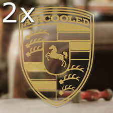 2x pieces Aircooled sticker decal vw volkswagen bug bus beetle gold clear 2.5""