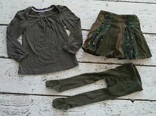"""BABY GAP """"Into The Woods"""" Shirt, Skirt, Tights Outfit 5 5T EUC"""