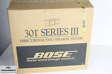Bose 301 Serie III Direct Reflecting Speaker System NEW IN BOX NEU in OVP X-RARE
