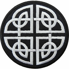 Variation Celtic Shield Knot Keltic Cross Wicca Biker Tattoo Iron-On Patch SA016