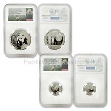 China 2016 HSNA Bamboo Panda Hawaii Expo 1 oz and 2 grams Silver NGC PF70 Set ER