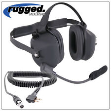 Rugged Radio Headset Rubberized with MOTOROLA coil cord NASCAR Racing Electronic