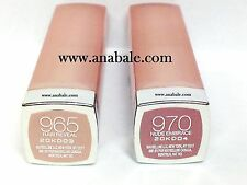 Set of 2 Maybelline ColorSensational Lipstick, Raw Reveal 965, Nude Embrace 970