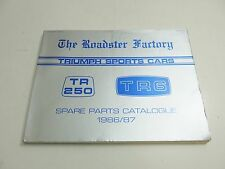 TRIUMP SPORTS CARS SPARE PARTS CATALOG 1986 / 87 THE ROADSTER FACTORY BOOKLET