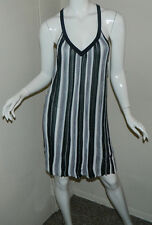 New Women BeBe Striped Multi-Color Sleeveless Cocktail  Party Dress Size M NWT
