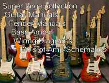 GUITAR  Super Large Collection of Guitar Manuals Amplifier Manuals Schematics cd