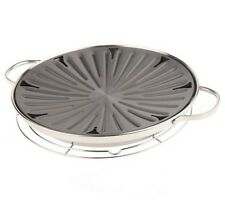 "CooksEssentials Stainless Steel 12"" Indoor Stovetop BBQ Grill Pan"