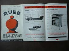 AVER Catalogo 1936 Cucine Fornelli Ferri da Stiro Radiatori Scaldapiatti