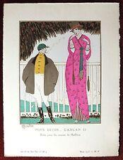 Gazette du Bon Ton Print Pochoir ~ March 1913, No 5 ~ Vous Dites... Can Can II