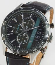Cerruti 1881 Herren Uhr Chrono Chronograph Lederband grau NEU CRA121SN13GY WOW