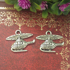 Helicopters Tibetan Silver Bead charms Pendants fit bracelet 15pcs 19x16mm