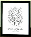 Personalised A3 Fingerprint Tree Guest Book + Ink Wedding Birthday Christening17