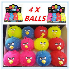 4 X COLOURFUL BIRD ANIMAL LIGHT UP PUFFER BALLS - BIRTHDAY PARTY, EVENT, GIFT A