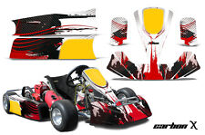 AMR Racing Paul Tracy PKT Kid JR Cadet Kart Graphic Decal Kit Parts CARBON X RED