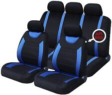 Oxford Blue 9 Piece Full Set Of Seat Covers For Daihatsu Ayla