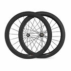 700C Road Bike Bicycle Wheelset 23mm width 60mm depth Clincher Carbon Wheels