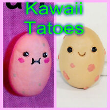 Kawaii Potato Clay mini Figure Handmade keychain pendante charm rear view mirror