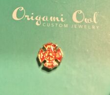 Origami Owl Authentic Floating Charm Living Locket Fire Fighter Shield FD Dept
