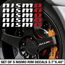2.5 WRT SET OF 5 NISMO RIM DECAL STICKERS SET WHITE AND RED