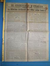 WW1 @ 18/06/1911 IL GIORNALE D'ITALIA La riforma elettorale - 228