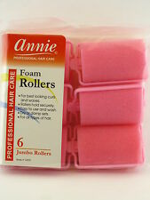 "ANNIE JUMBO 1-1/2"" FOAM HAIR ROLLERS - 6 PCS. (1055)"