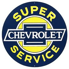 "Chevrolet Service round large metal sign (ar 14"")"