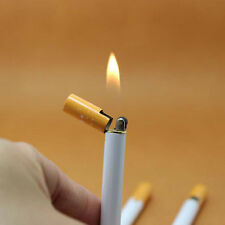 Cigarette-Shaped Flame Lighter Refillable Butane Gas Cigar Lighter