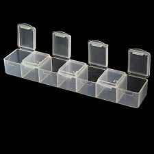 Hot sale Clear Medicine Pill Box Organizer Case Container 7 Grid Sorter Tablet