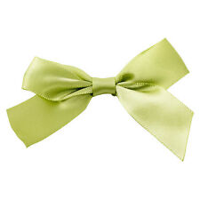 x100 Sage Green Twist Tie Bows 4 inch st patricks day cake pop decoration