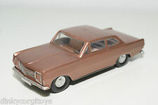 VEB PLASTICART PLASTIC OPEL REKORD METALLIC BROWN NEAR MINT CONDITION REPAINT