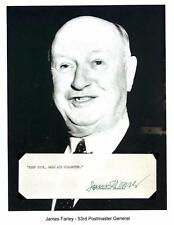 James A. Farley - Autograph Typed Sentiment Postmaster