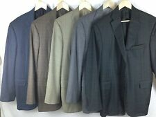 Lot of 5 Bespoke Tom James Holland & Sherry 43L 44L Sport Coats Hand Tailored