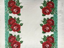 "Moda Retro Kitchen Toweling RODEO ROSE 16"" Finished Edge, By the yard"