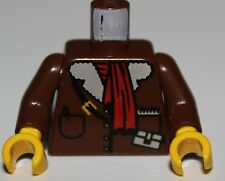 LeGo Brown Torso Adventurers Orient Leather Jacket Red Scarf Yellow Hands