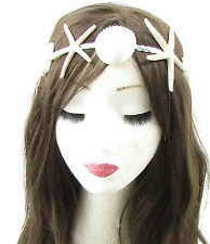 Silver Ivory Real Sea Shell Starfish Headband Mermaid Fancy Dress Costume 633