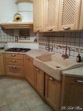 lavandino lavello lavabo cucina in pietra travertino chiaro