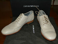 NIB EMPORIO ARMANI DRESS FORMAL LEATHER SHOES  SZ US 7 EU 39 MADE IN ITALY $495