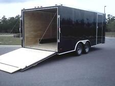 8.5x20 Enclosed Cargo Trailer V NOSE 22 Utility Car Hauler 8 Motorcycle Box 2016