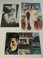 Set of 3 Vintage James Dean Postcards - New & Unused