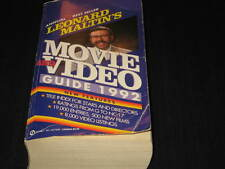 LEONARD MATLIN'S MOVIE AND VIDEO GUIDE 1992 POCKET BOOK 1st PRINTING OOP CANADA