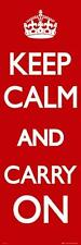 Keep Calm and Carry On - Door Poster 53cmx158cm (new & sealed)