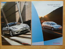 TOYOTA Celica range 2002 2003 UK Mkt sales brochure + price list