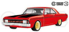 Chrysler Valiant VG Pacer Hemi 2Door - Red with Gold Rims
