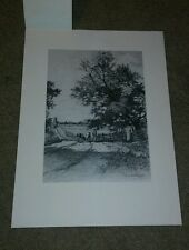 ETCHING-C.A. BARTELS-THE COUNTRYSIDE-TALIO CHROME