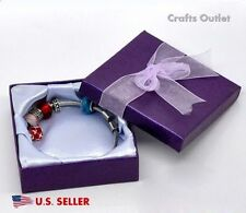 "Lot of 6pcs Purple Square Jewelry Gift Box Bracelet Bangle Box 3.5""x3.5""x1.2''"