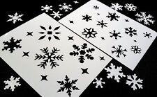 # m conjunto de 2 un. Copos de Nieve Invierno Navidad Windows pastel polvo plantillas Spray