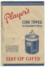 India Player's Cigarettes 1930s-40s illustrated promotional gift catalogue