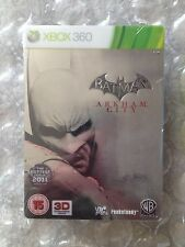 BRAND NEW FACTORY SEALED BATMAN ARKHAM CITY LIMITED STEELBOOK XBOX 360 TIN CASE