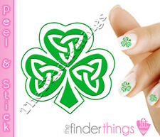 St. Patrick's Day Shamrock Four Leaf Clover Nail Art Decal Sticker Set SHM101